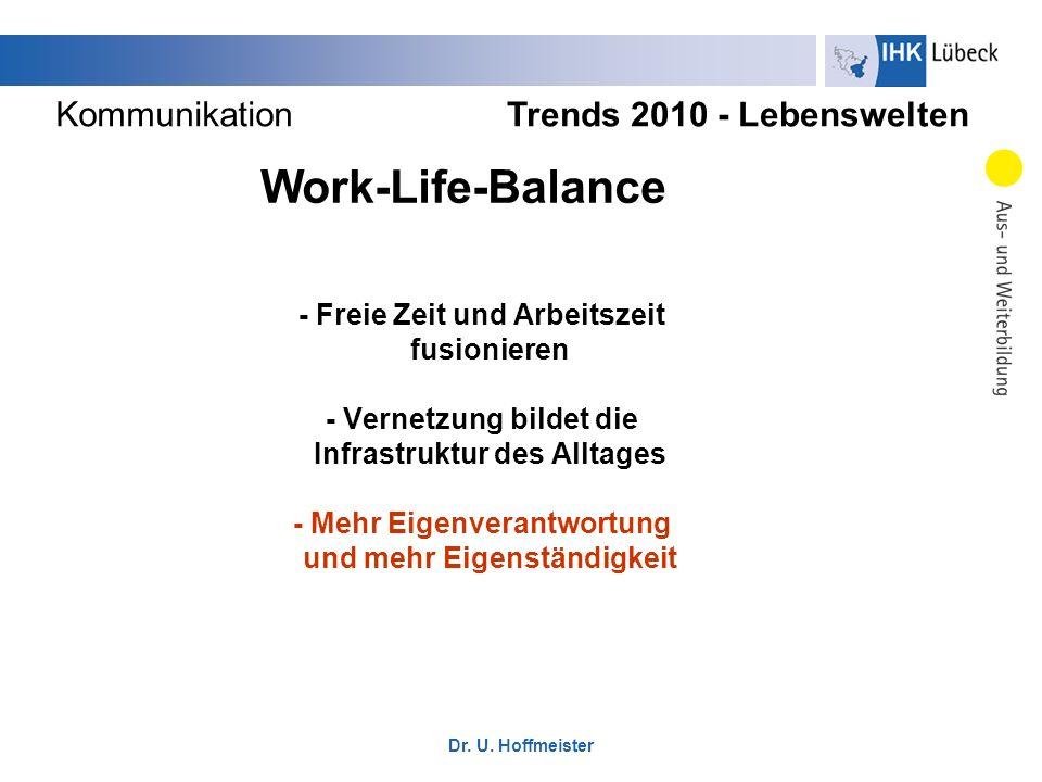 Work-Life-Balance Kommunikation Trends 2010 - Lebenswelten