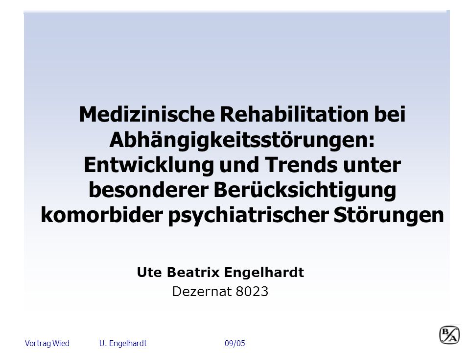 Medizinische Rehabilitation bei Abhängigkeitsstörungen: