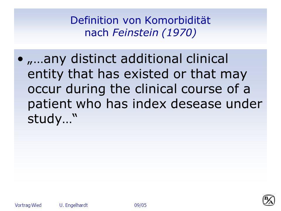 Definition von Komorbidität nach Feinstein (1970)