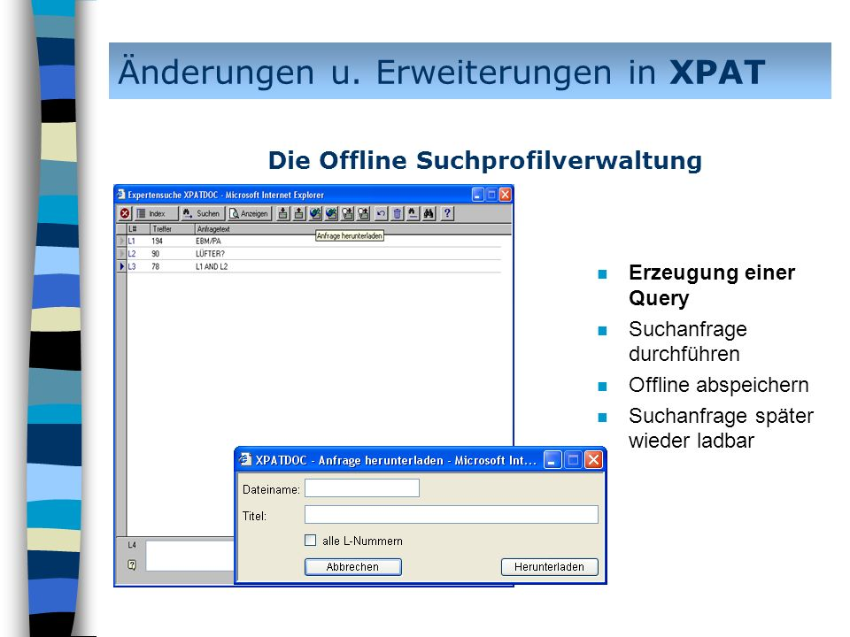 Änderungen u. Erweiterungen in XPAT
