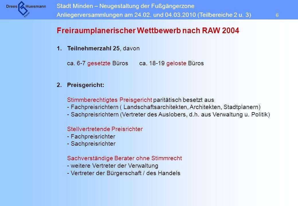 Freiraumplanerischer Wettbewerb nach RAW 2004
