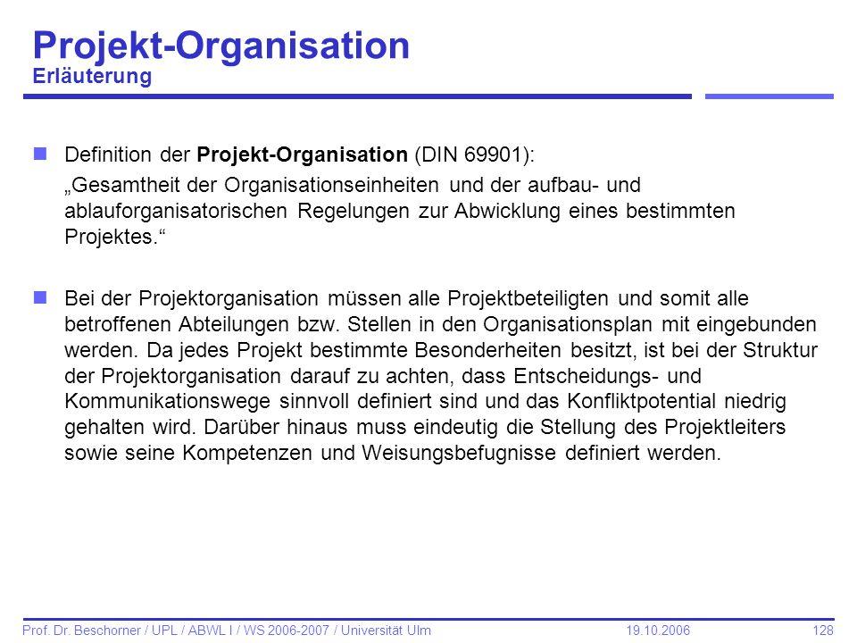 Projekt-Organisation Erläuterung