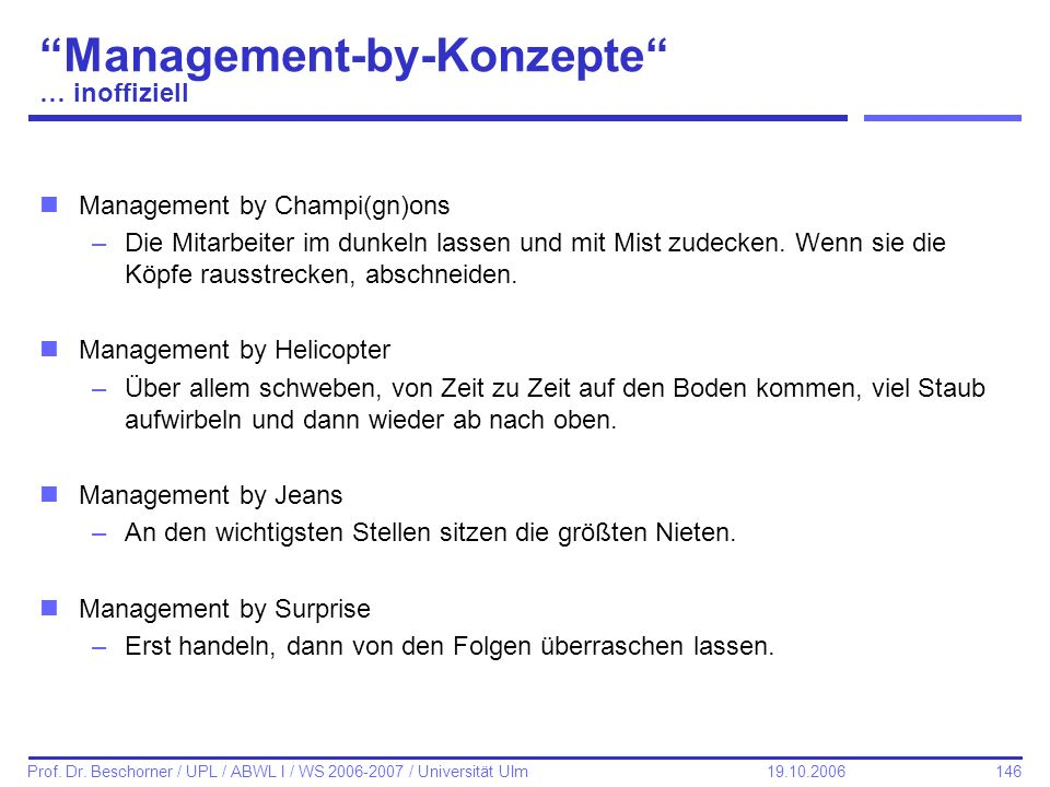 Management-by-Konzepte … inoffiziell