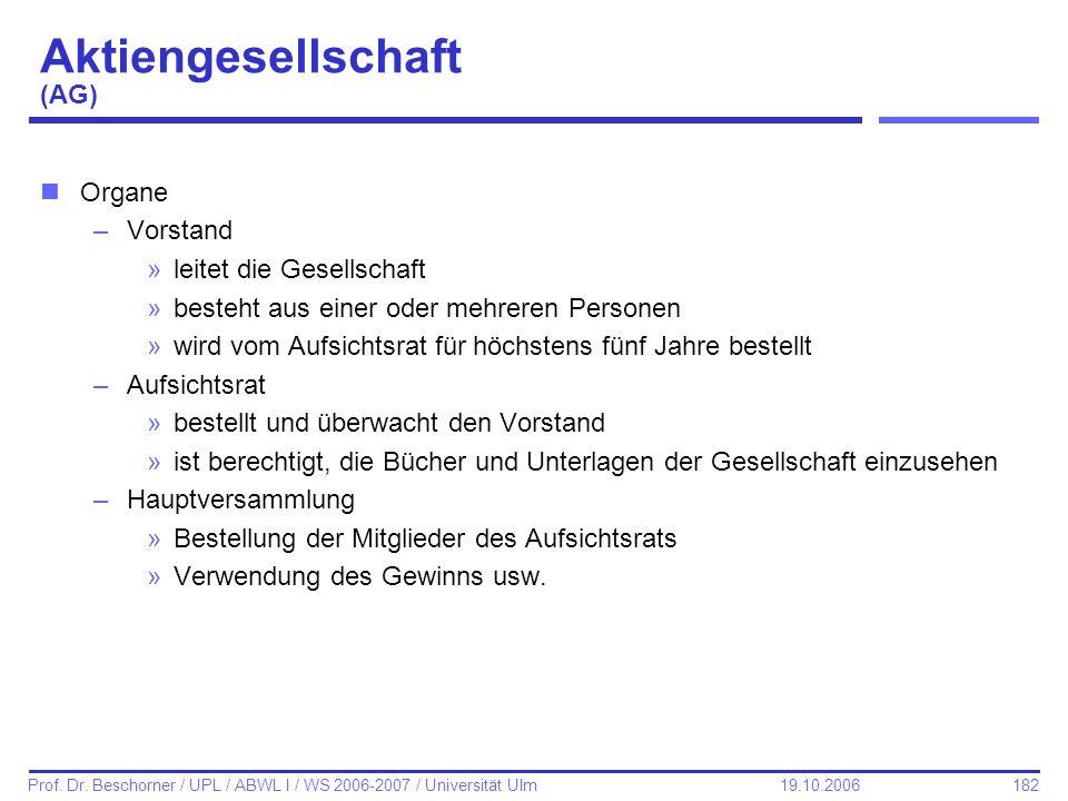 Aktiengesellschaft (AG)