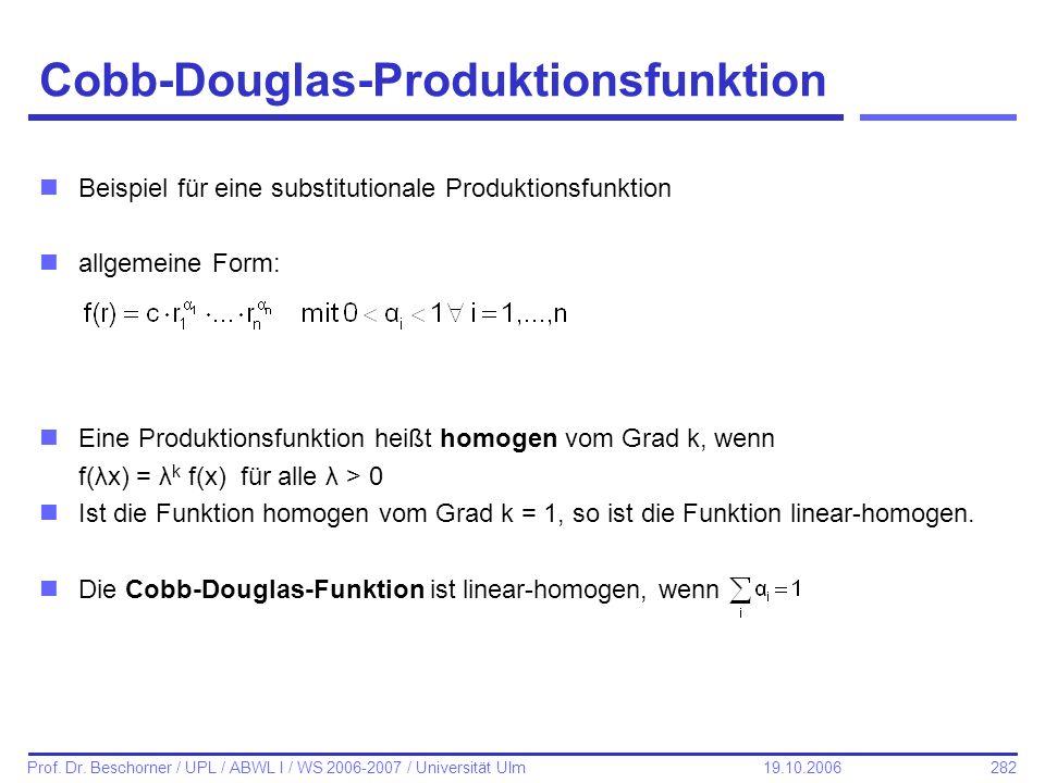 Cobb-Douglas-Produktionsfunktion