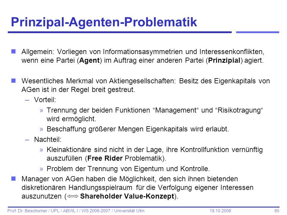 Prinzipal-Agenten-Problematik