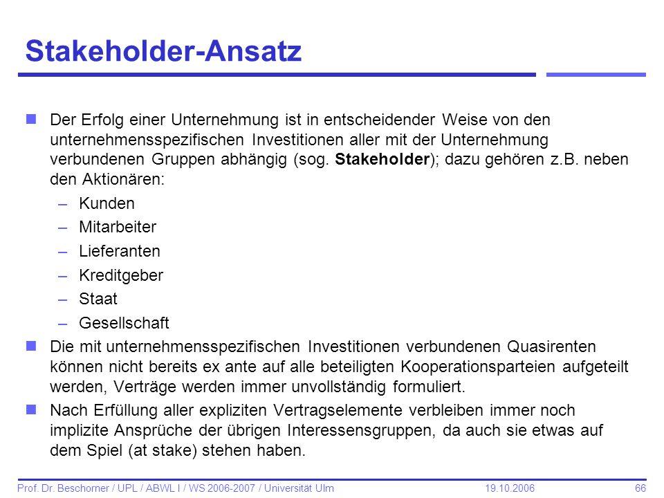 Stakeholder-Ansatz