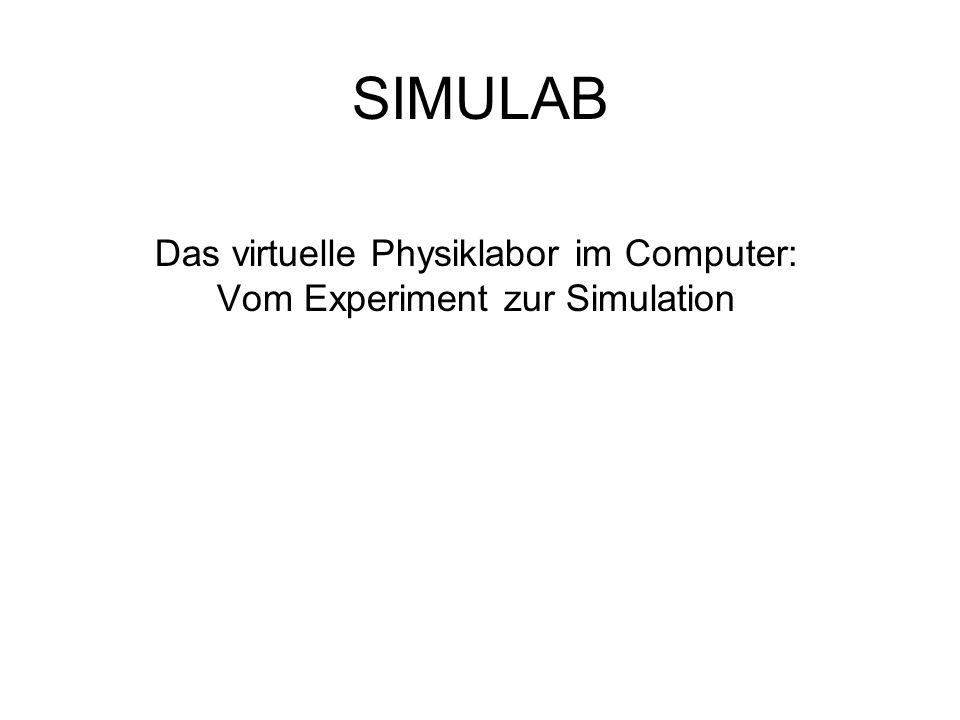Das virtuelle Physiklabor im Computer: Vom Experiment zur Simulation