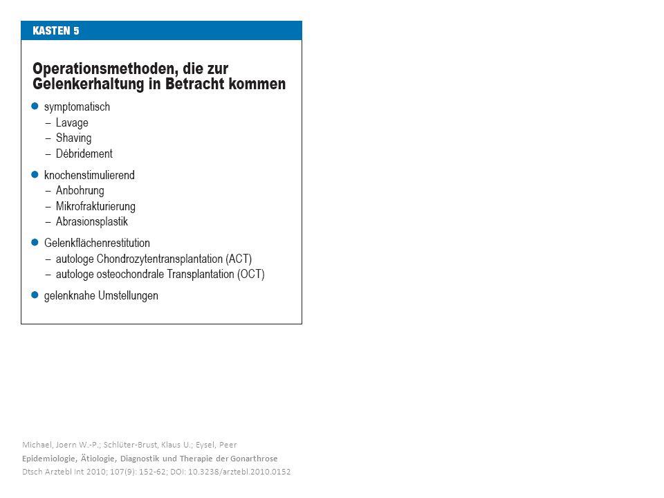 Michael, Joern W.-P.; Schlüter-Brust, Klaus U.; Eysel, Peer