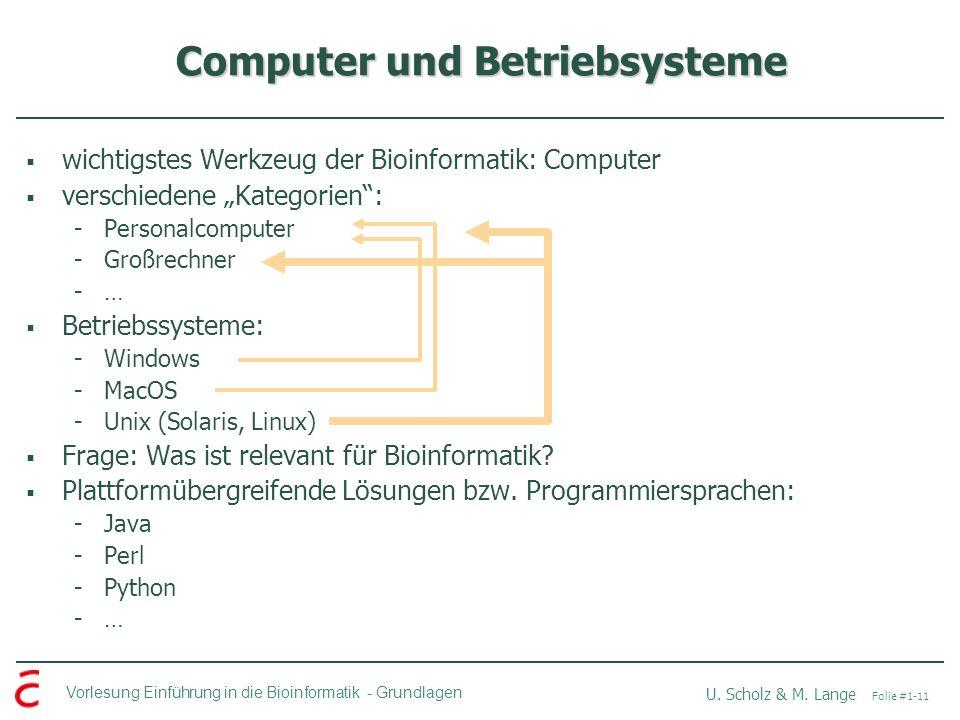Computer und Betriebsysteme