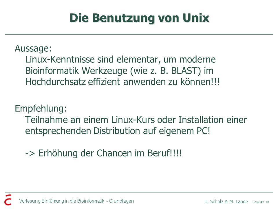 Die Benutzung von Unix