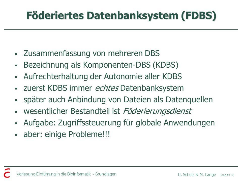 Föderiertes Datenbanksystem (FDBS)