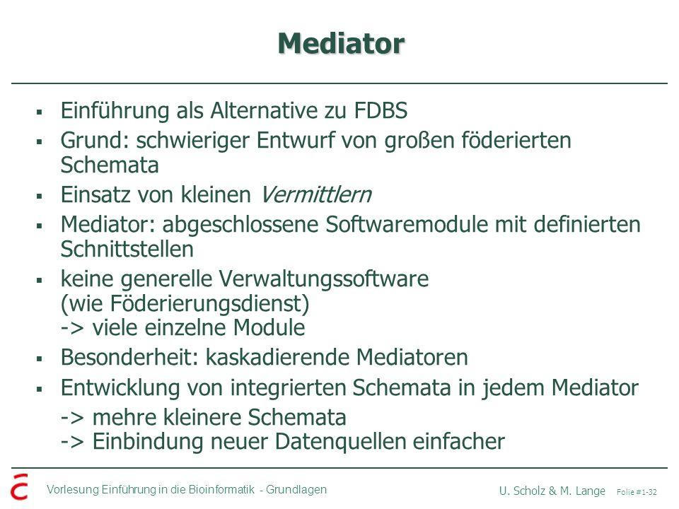 Mediator Einführung als Alternative zu FDBS