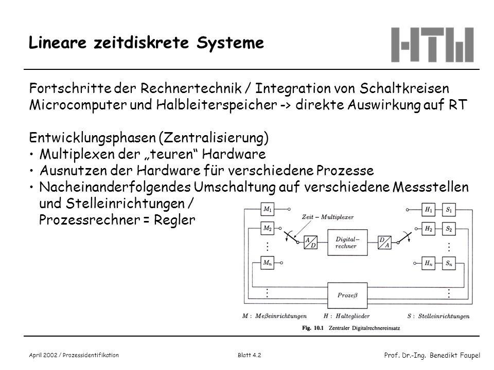 Lineare zeitdiskrete Systeme
