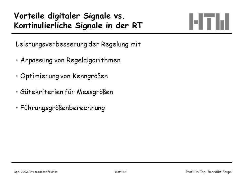 Vorteile digitaler Signale vs. Kontinulierliche Signale in der RT