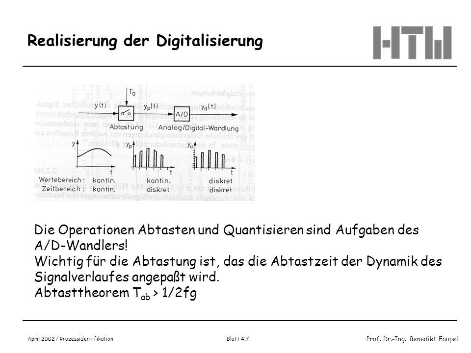 Realisierung der Digitalisierung