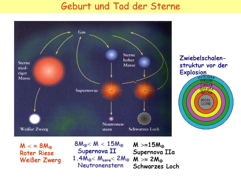 Geburt und Tod der Sterne