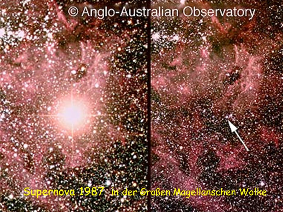 Supernova 1987 in der Großen Magellanschen Wolke