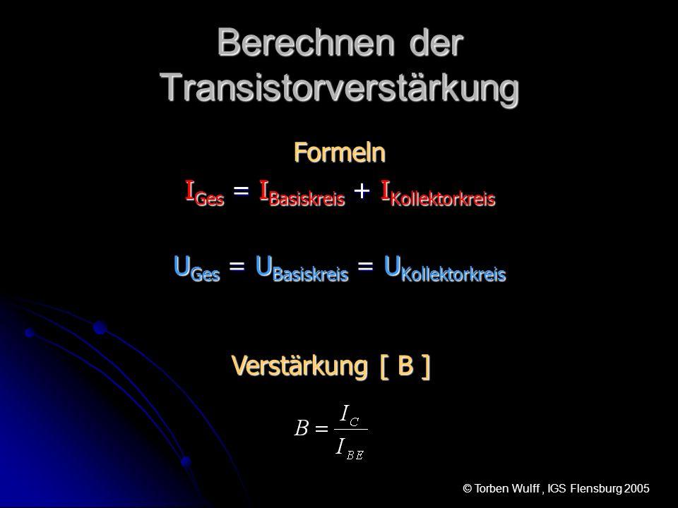 Berechnen der Transistorverstärkung