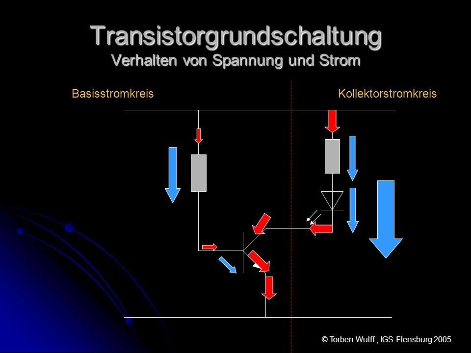 Transistorgrundschaltung Verhalten von Spannung und Strom
