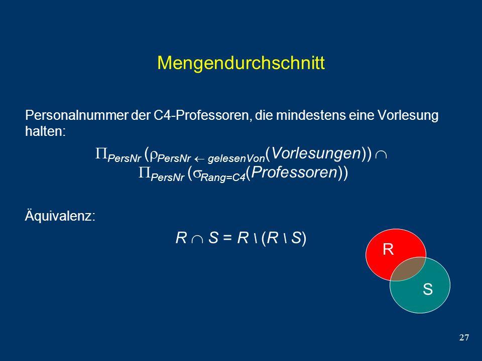 Mengendurchschnitt Personalnummer der C4-Professoren, die mindestens eine Vorlesung halten:
