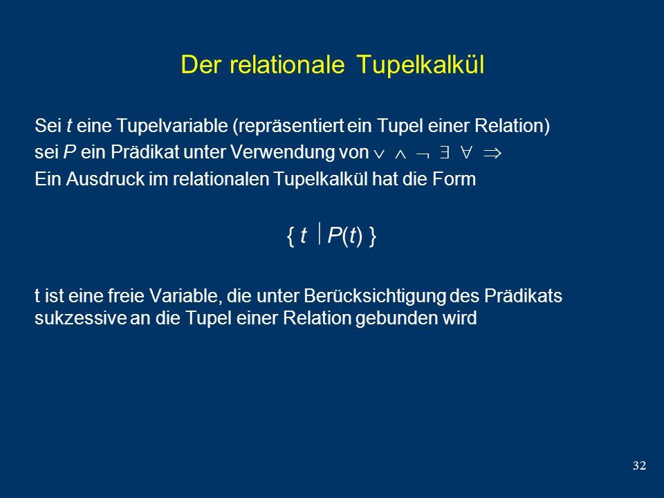 Der relationale Tupelkalkül