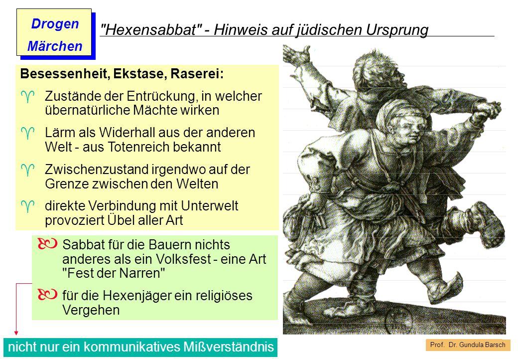 Hexensabbat - Hinweis auf jüdischen Ursprung
