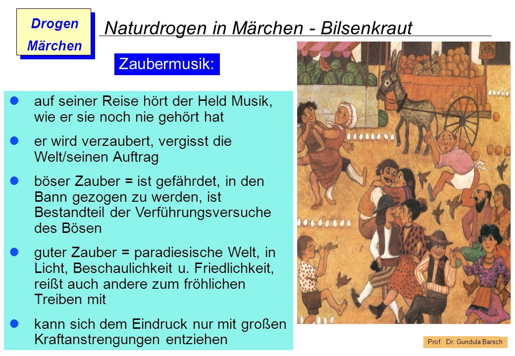 Naturdrogen in Märchen - Bilsenkraut