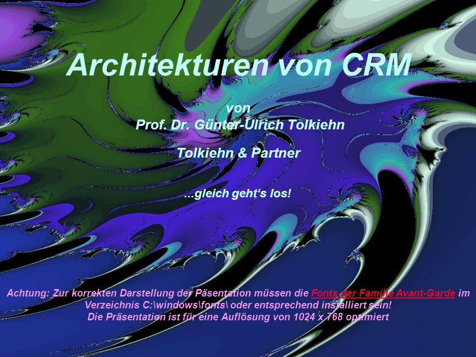 Architekturen von CRM von Prof. Dr