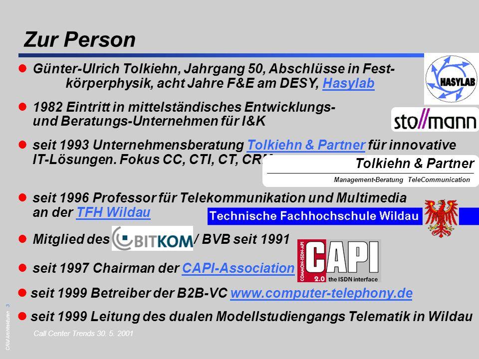 Zur Person Günter-Ulrich Tolkiehn, Jahrgang 50, Abschlüsse in Fest- körperphysik, acht Jahre F&E am DESY, Hasylab.
