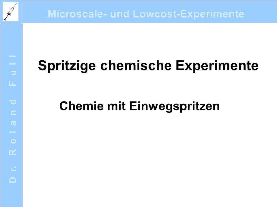 Spritzige chemische Experimente