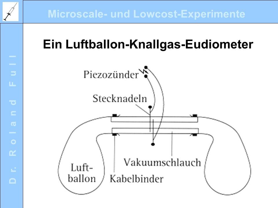 Ein Luftballon-Knallgas-Eudiometer