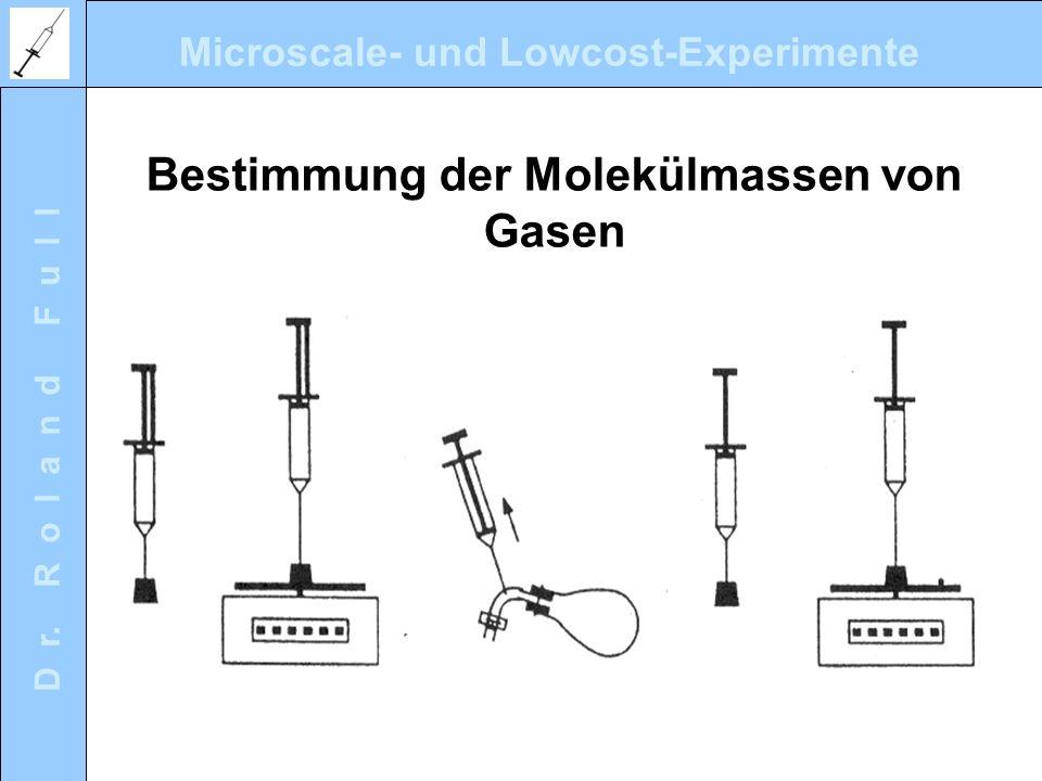 Bestimmung der Molekülmassen von Gasen