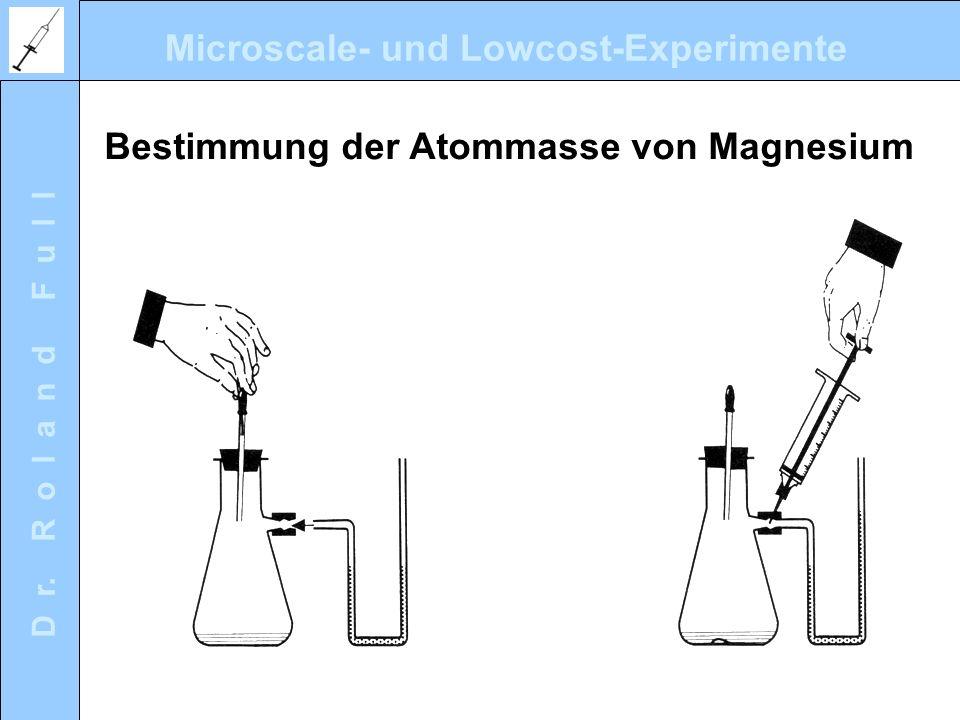 Bestimmung der Atommasse von Magnesium