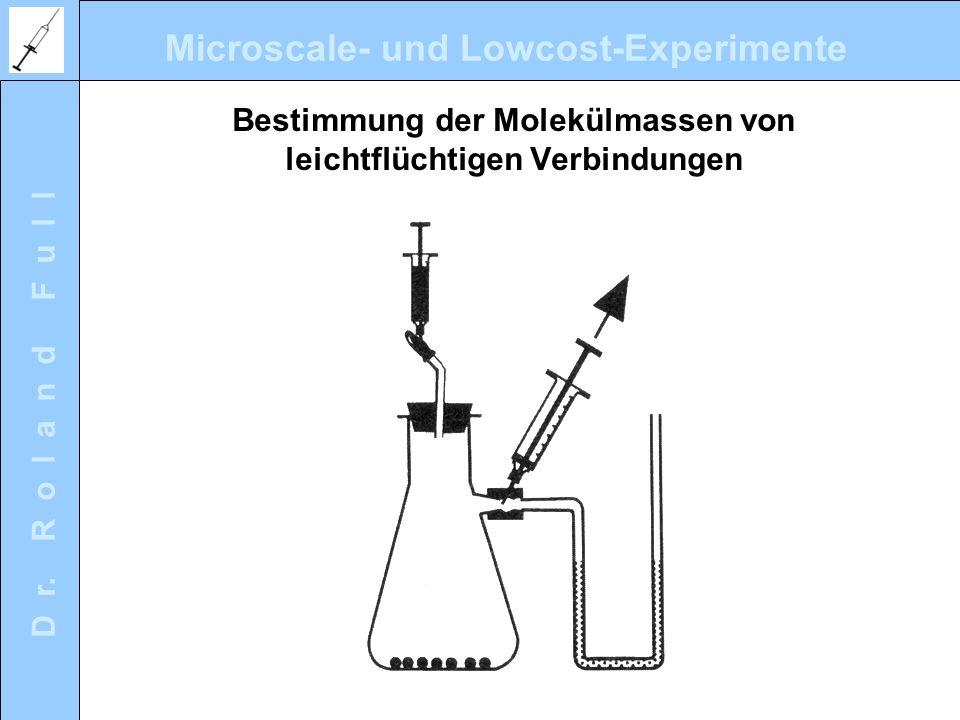 Bestimmung der Molekülmassen von leichtflüchtigen Verbindungen