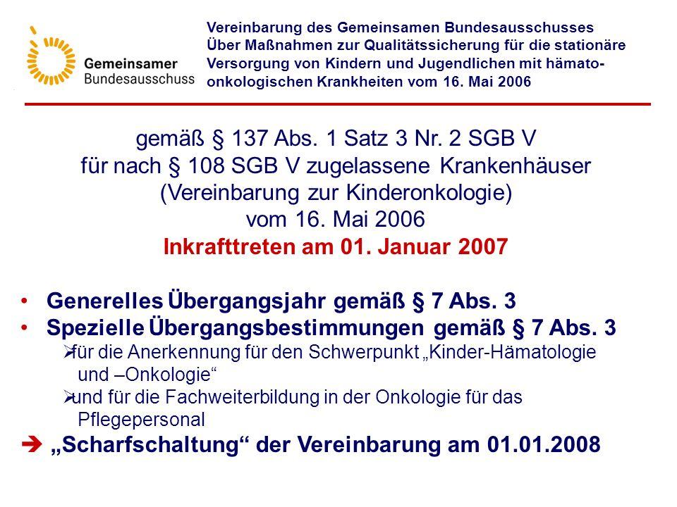 Inkrafttreten am 01. Januar 2007