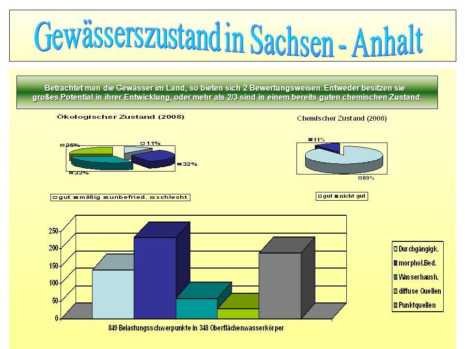 Gewässerszustand in Sachsen - Anhalt