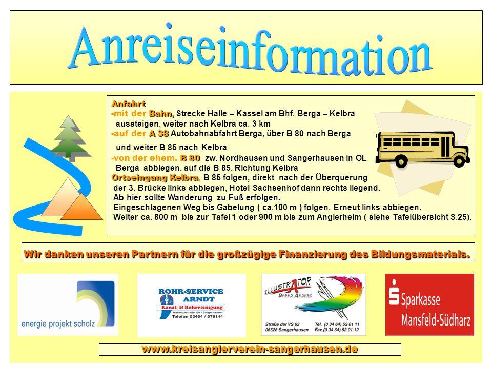 AnreiseinformationAnfahrt. mit der Bahn, Strecke Halle – Kassel am Bhf. Berga – Kelbra. aussteigen, weiter nach Kelbra ca. 3 km.