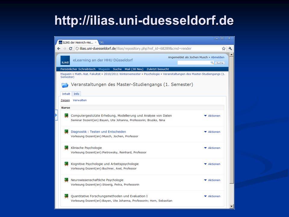 http://ilias.uni-duesseldorf.de