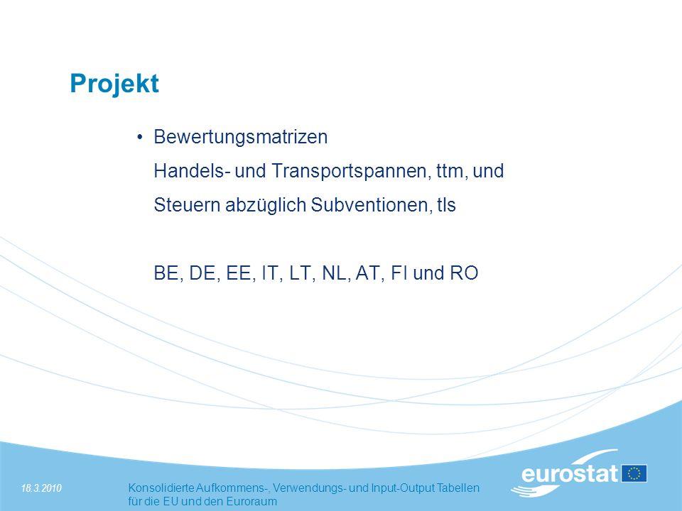 Projekt Bewertungsmatrizen Handels- und Transportspannen, ttm, und