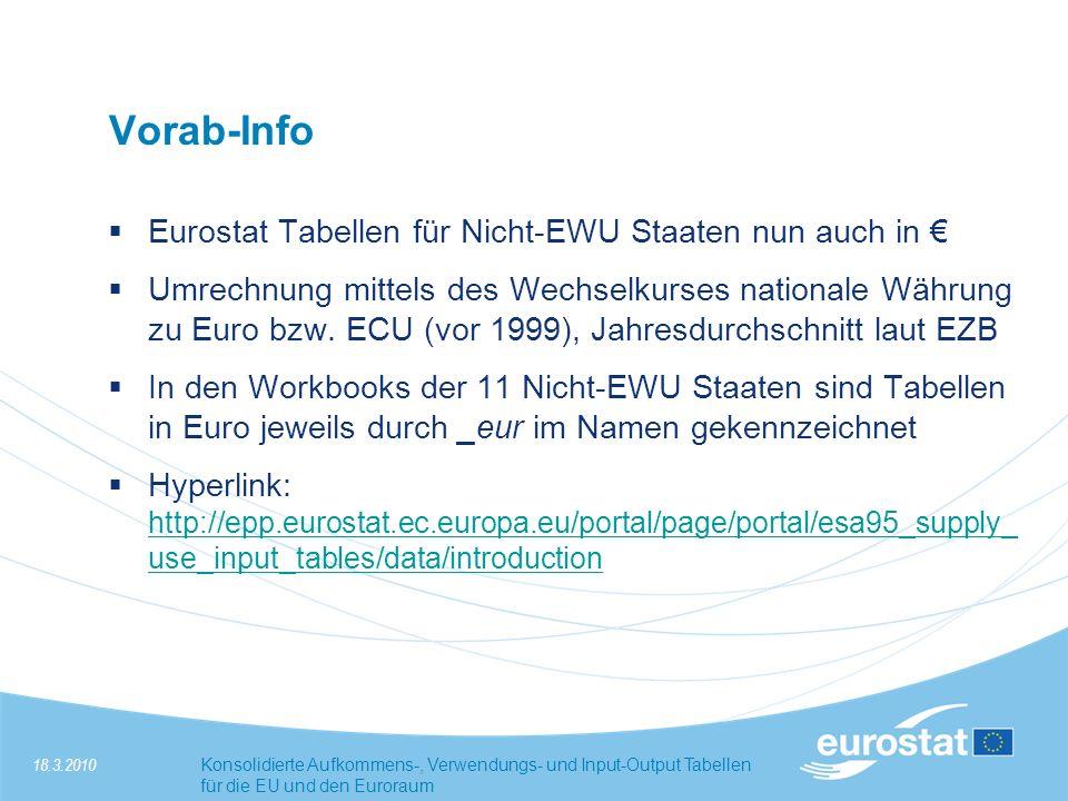 Vorab-Info Eurostat Tabellen für Nicht-EWU Staaten nun auch in €