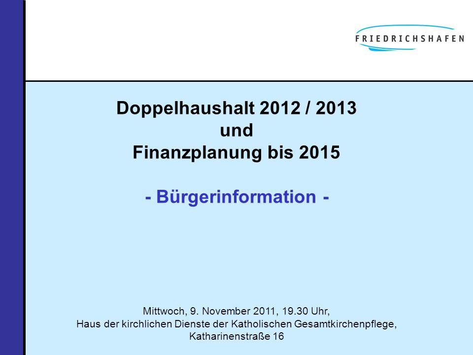Doppelhaushalt 2012 / 2013 und Finanzplanung bis 2015