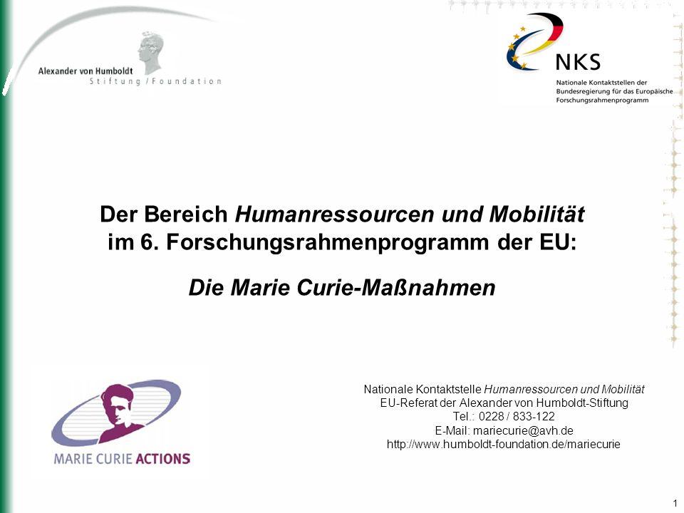 Der Bereich Humanressourcen und Mobilität im 6