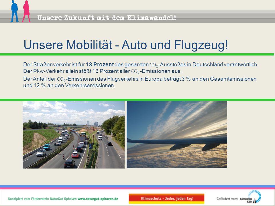 Unsere Mobilität - Auto und Flugzeug!