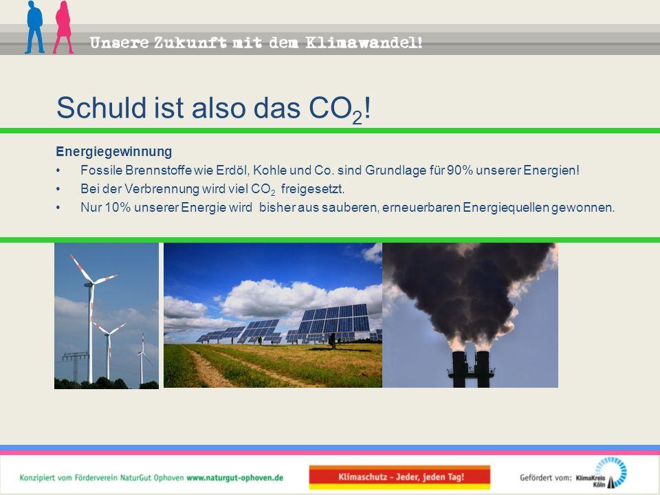 Schuld ist also das CO2! Energiegewinnung