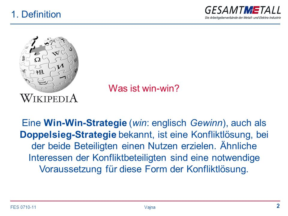 1. Definition Was ist win-win
