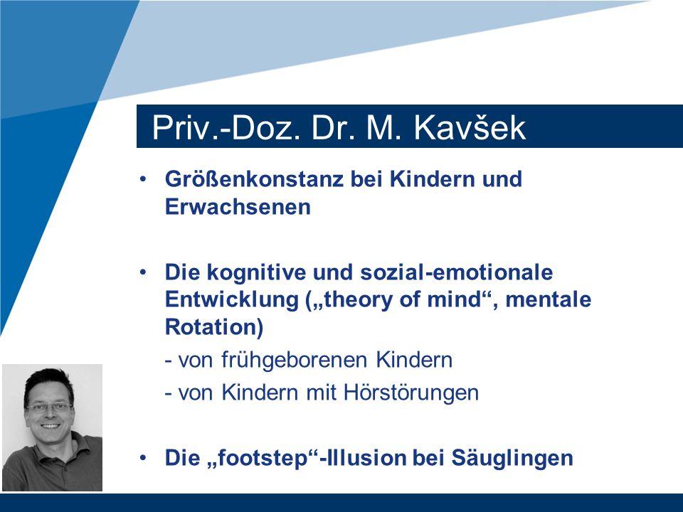 Priv.-Doz. Dr. M. Kavšek Größenkonstanz bei Kindern und Erwachsenen