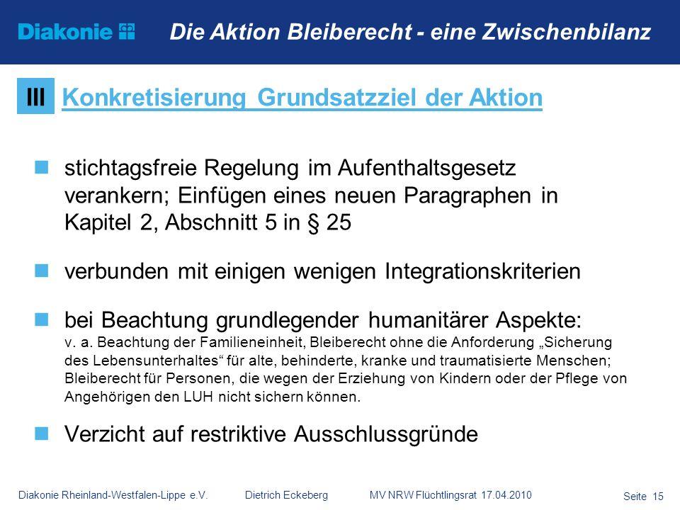 Konkretisierung Grundsatzziel der Aktion