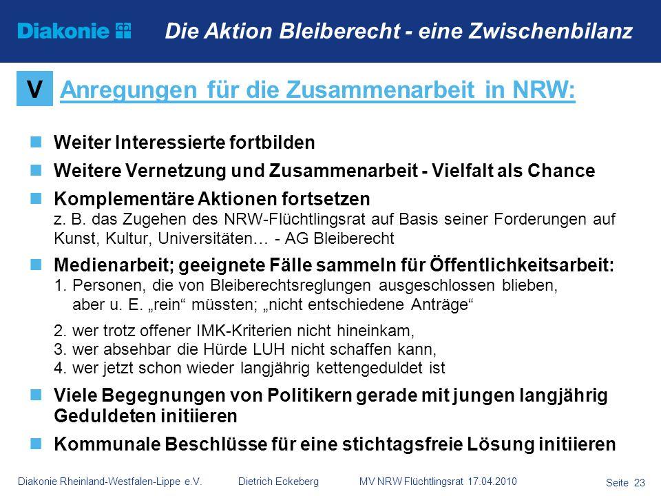 Anregungen für die Zusammenarbeit in NRW: