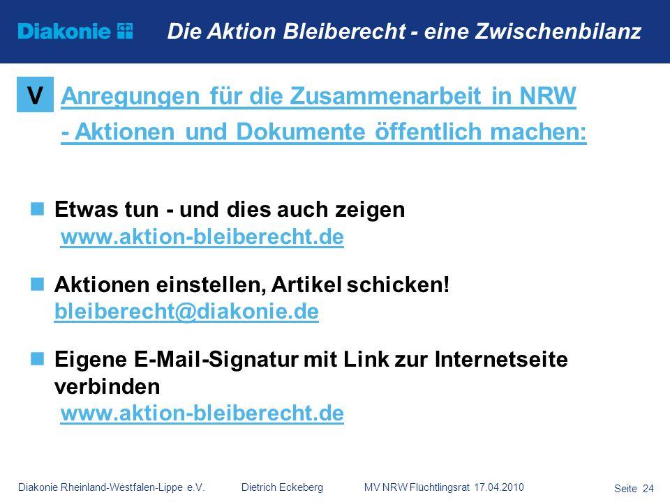 Anregungen für die Zusammenarbeit in NRW
